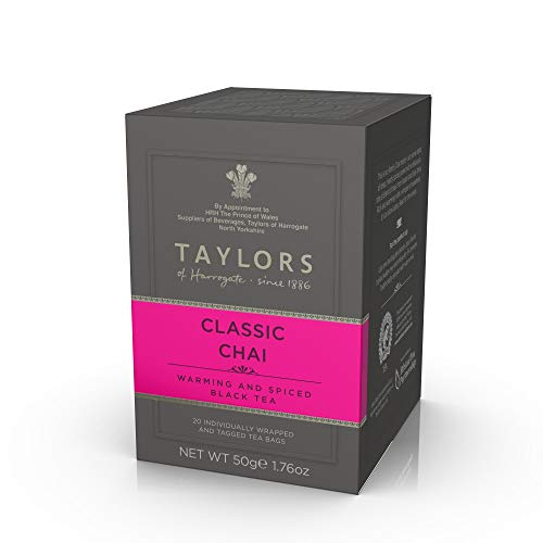 Taylors of Harrogate Classic Chai Tea, 20 Count (Pack of 1)