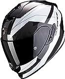 SCORPION EXO-1400 Carbon AIR Casque DE Moto Hommes, Blanc, M