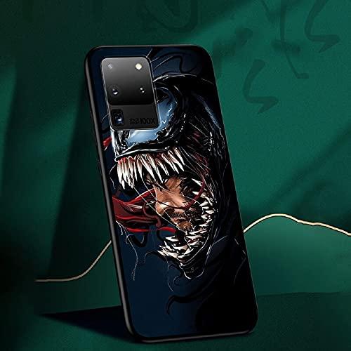 Dessin animé Mignon Super héros Iron Spider Man Avengers Capitaine Amérique Coque pour Galaxy S10 S20 S21 Plus Note 10 20 Ultra TPU Souple (15, Galaxy S20 Ultra)