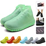 Nirohee Silicone Shoes Covers, Shoe Covers, Rain Boots Reusable Easy to Carry for Women, Men, Kids. (Green, L)