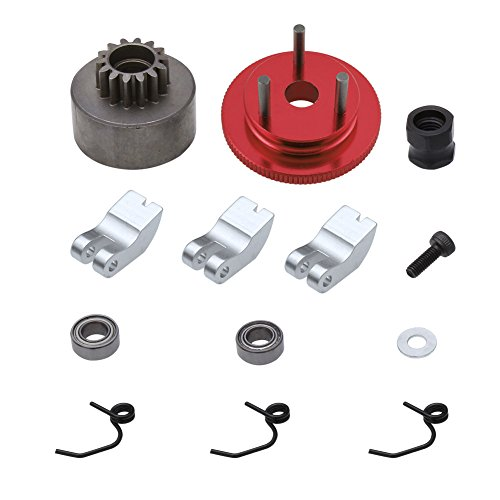 HobbyPark 14T Clutch Bell Shoes Springs Bearings Flywheel Assembly Kit for 1/8 HSP Redcat Avalanche XTR Hurricane XTR Car 21-28cxp Nitro Engine Parts