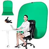 Green Screen Chair, PortaGreen Screen Chair, Portable Webcam Background, 4.65 Ft Green Background Screen Portable, Chroma Key Green for Video Chats, Zoom, Skype, Green Screen Video Backdrop.