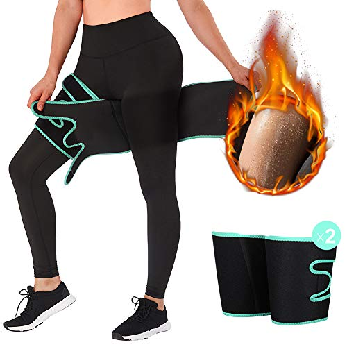 FEDNON Slimmer Trimmer Thigh Trainer Neoprene Thigh Wraps Support for Weight Loss