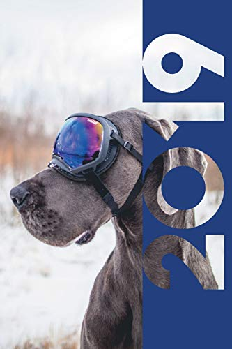 2019: Dog Goggles Nifty Organizer Diary daily weekly and monthly calendar planner for Puppy Trainer