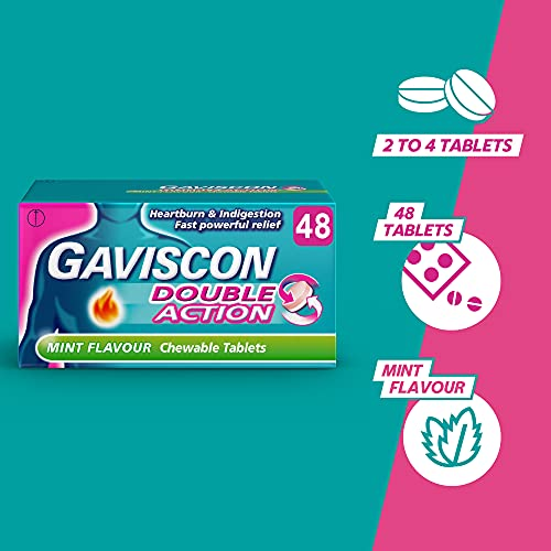 Gaviscon Double Action Tablets Heartburn and Indigestion