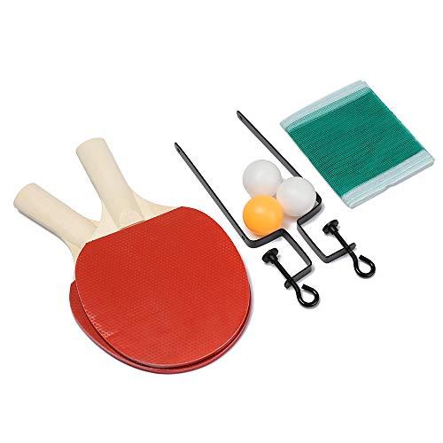 Juego de red de tenis de mesa portátil de ping pong de red de estante de bola de entrenamiento accesorios de ejercicio juego de familia (A) ⭐