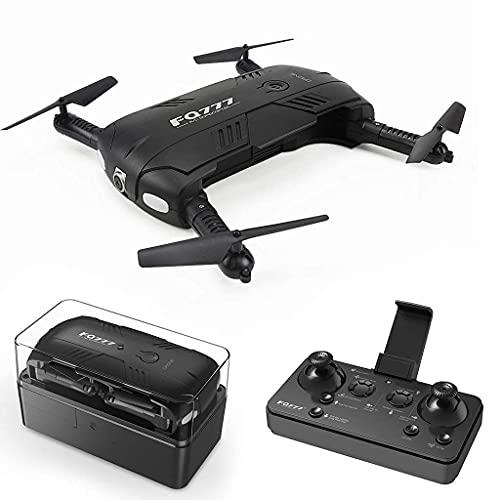 HJRBM Drone, Mini Drone Pieghevole da 2 Milioni di Fotocamere HD, Tascabile WiFi FPV ad Altezza Fissa Telecomando Aereo Giocattolo per Bambini Principianti