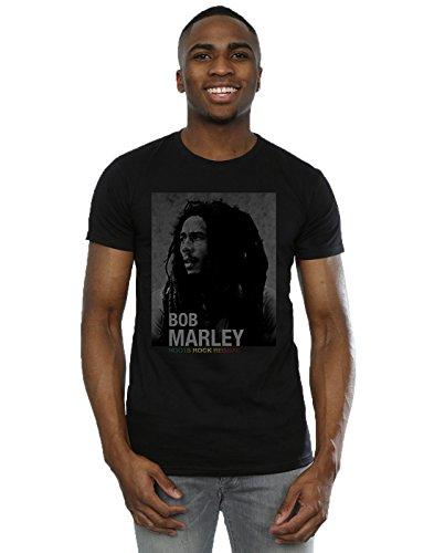 Bob Marley Hombre Roots Rock Reggae Camiseta XXX-Large Negro