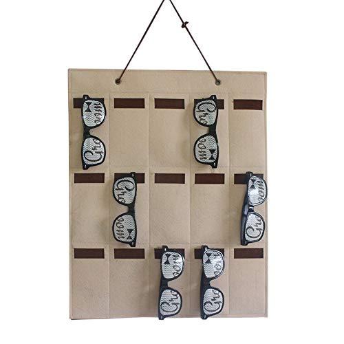Gafas de Sol Bolsa de Almacenamiento Expositor Organizador Soporte de Fieltro Joyas Bolsas múltiples Llaves de Bolsillo de Pared Gafas Sala de Estar Colgante Hogar(A1)