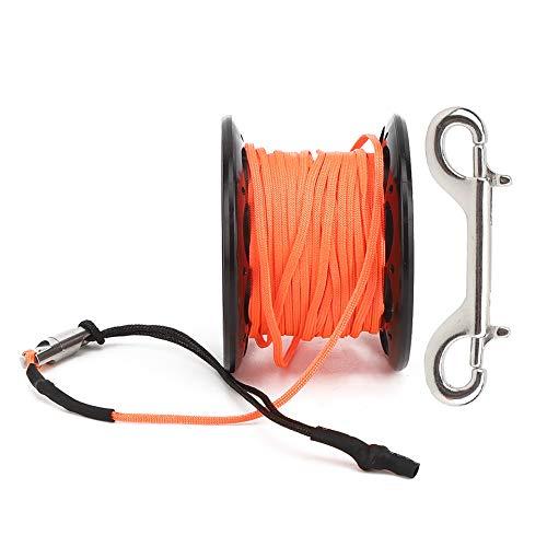Rueda marcadora de Buceo, Carrete de línea de plástico, Carrete de Alambre de 15 m 77g, Rueda de Cuerda de boya de plástico de 3 Colores, Snorkel para fotografía de Buceo(Black)