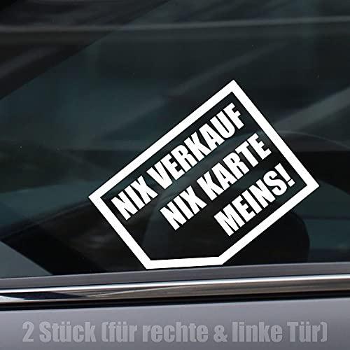 Kiwistar Nix, nix Karte, Meins! 10x 7 cm ~ 2 Stück für Links und Rechts Sticker Aufkleber