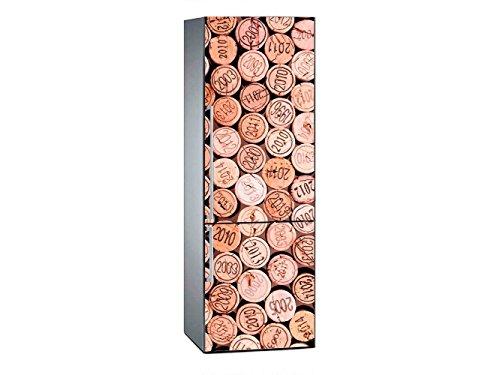 OEDIM Stickers Vinyle adhésif Autocollants Frigo Motif Bouchons de Liège De Bouteille de Vin avec Année Mesure 185 x 60 cm| V|Stickers Muraux Déco Meuble de Cuisine Etiquette Adhésive Décorative |