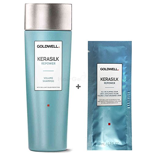 Goldwell Kerasilk Repower Set - Volume Shampoo 250ml + Volume Plumping Cream Sachet 7ml