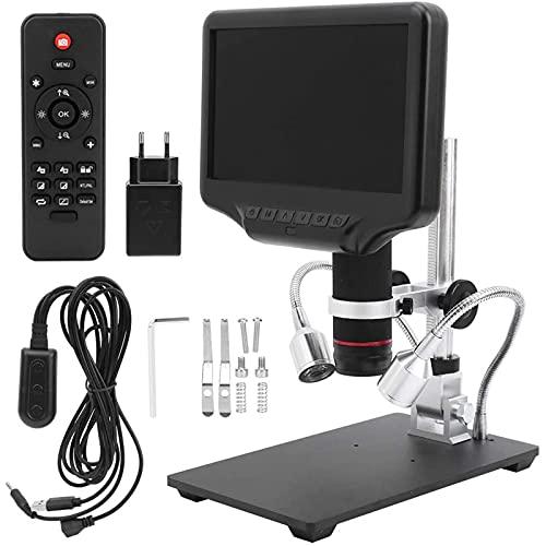 YDHNB Microscopio Digital HD De 7 Pulgadas 270X áNgulo Ajustable con 8 Resalte Regulables Luz Micro SD De Almacenamiento De CáMara del TeléFono MóVil De ReparacióN LED