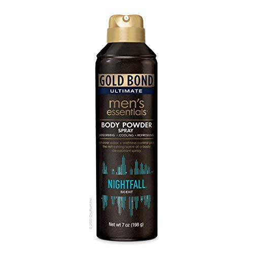 Gold Bond Men's Ultimate Essential Body Powder Spray, Transparent, 7 Ounce