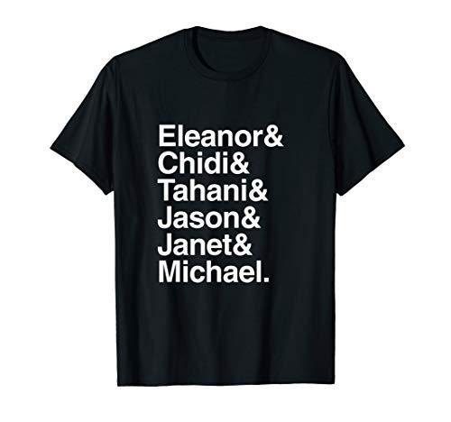 Eleanor, Chidi, Tahani, Jason, Janet and Michael