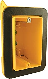 Hubbell-Raco 2011-FBAR Non Metallic 2-3/4-Inch Deep Electrical Box, with 1 Gang, Bracket and Vapor Barrier Protection, 2-1/4-Inch x 3-1/2-Inch