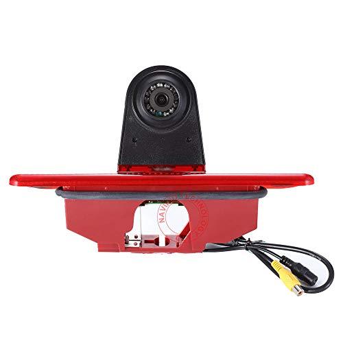 HD IP68 Derde Dak Top Mount Remlamp Omgekeerde Achteruitkijkcamera Hoek en afstand Instelbare IR Nachtzicht voor Peugeot Expert/FIAT Scudo/Citroen Jumpy (Omkeren Camera), Oude versie
