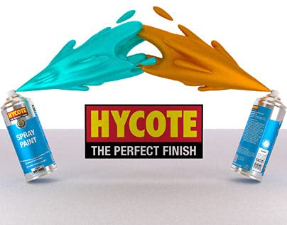 Hycote Set of 4 XUK0232 Clear Lacquer Aerosol Spray Paint Can 400ml - High Gloss Finish Protects from UV Damage Fast…
