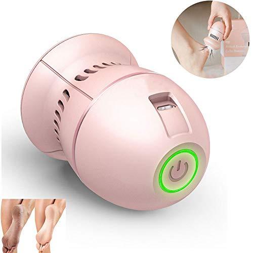 HUWAI-F Pédicure électrique Pieds Professionnel râpe à Pieds électrique Anti-callosité Rechargeable pour Peaux dures,Rose