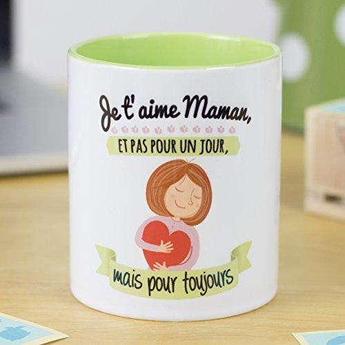 La mente es Maravillosa Nos pensées - Tasse avec Message et Dessin Amusant - (Je t'aime Maman, et...