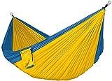 TJJY Hängematte Camping Leichte tragbare Hängematte für Wanderungen im Freien Reiserucksack-Nylon Hängematte Schaukel Gelb