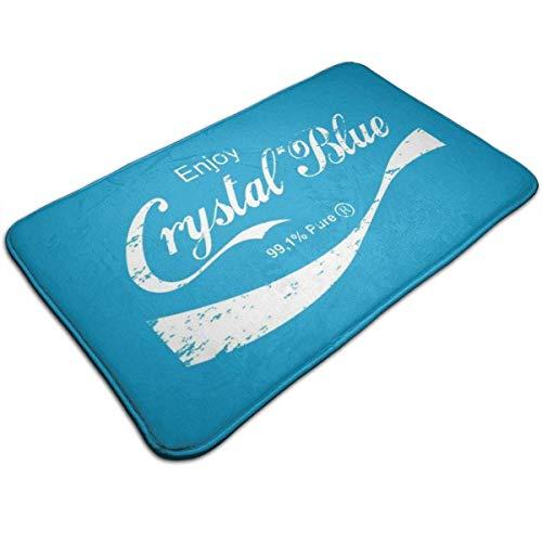 CDMT-XU1 Enjoy Crystal Blue Breaking Bad Alfombrilla para Puerta de Entrada Alfombra de baño Antideslizante Alfombra para Piso de Cocina Alfombra de 19.5x31.5 Pulgadas