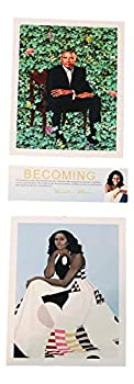 Keepsake Collector pictures Official Portrait of President Obama and Michelle Obama Poster Prints two 8x10 plus bookmark Black History Month Custom Made Collectors Ite