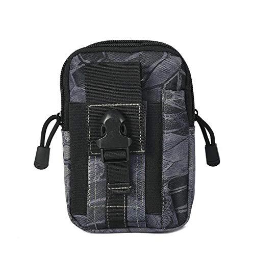 SZMYLED - Mini poche tactique - Sac banane - Sac de téléphone étanche - Sac de ceinture - Compact utilitaire - Pour le sport et l'extérieur XXXS Couleur boa noire.