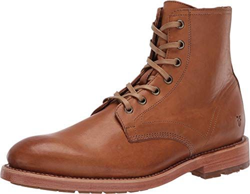 Frye Men's Bowery Lace Up Combat Boot, Caramel, 9 M US