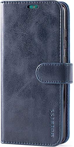 Mulbess Handyhülle für Nokia 2.2 Hülle Leder, Nokia 2.2 Handy Hüllen, Vintage Flip Handytasche Schutzhülle für Nokia 2.2 Hülle, Navy Blau