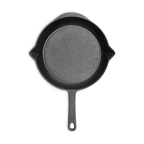 Poêle en Fonte, Housse en cuir pour la poignée - 30 cm