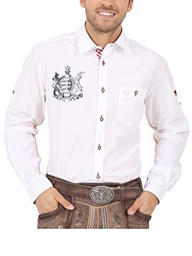 Krüger Herren Trachten Hemd, Modell: Furchtlos und Treu, Langarm, weiß, Art.-Nr. 094112-0-0001, L