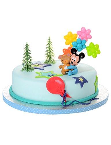Generique - 4 Accesorios para Tarta Bebé Mickey