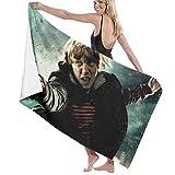 Custom made Toalla de baño de microfibra de Harry Potter, 70 x 140 cm, toalla de playa grande para deportes, accesorios de camping
