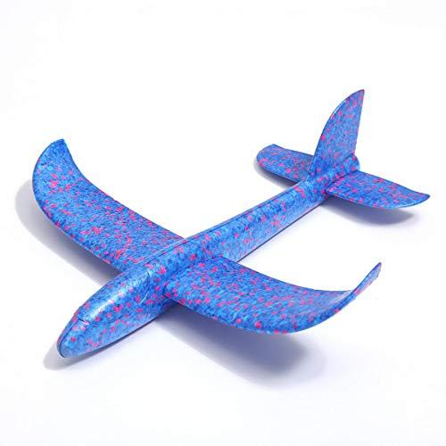 ZADAWERK® Avión de poliestireno - 35 cm - azul - planeador - juguete
