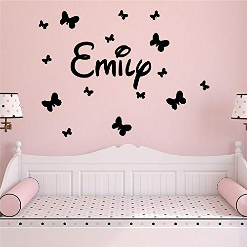 Yaonuli Art aangepaste naam muurkunst sticker baby slaapkamer decoratie vinyl sticker