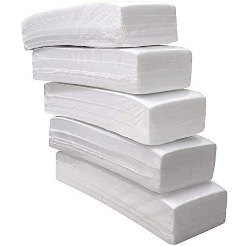 ANA MANDARA - Bandas de papel para depilación, pack de 500 tiras de bandas depilatorias, tiras para cera depilación corporal