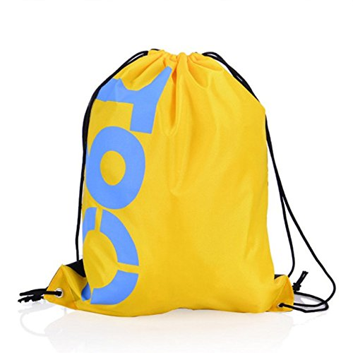 PUK 1pc Waterproof Drawstring Backpack Outdoor Travel Organizer Housekeeping Storage Bag for Clothes Shoes Kids Toy,16