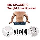 Nukana 1 STÃœCKE Gewichtsverlust Healthcare Runde Schwarz Stein Magnetfeldtherapie Halskette...