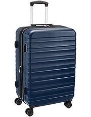 AmazonBasics - Trolley rigido e robusto, alta qualità, 68 cm, Blu