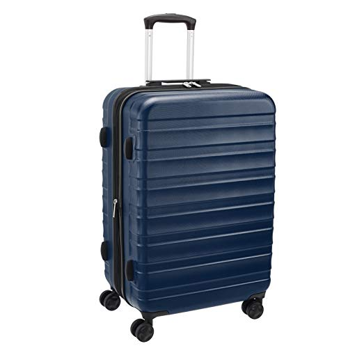 AmazonBasics Premium Robust Hardside Suitcase, 68-cm - Blue