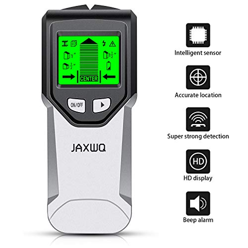 Stud Finder Wall Scanner 5 in 1Stud Detector with Intelligent Microprocessor chip HD LCD Display and Audio Alarm Accurate and Fast Location for the Center and Edge of Metal Studs AC wire