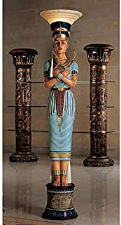 Design Toscano Queen Nefertiti Sculptural Floor Lamp