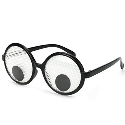 REFURBISHHOUSE Gafas de Protección Divertidas Gafas de Protección para Ojos Agitando Los Ojos Gafas de Fiesta y Juguetes para Traje de Cosplay de Fiesta