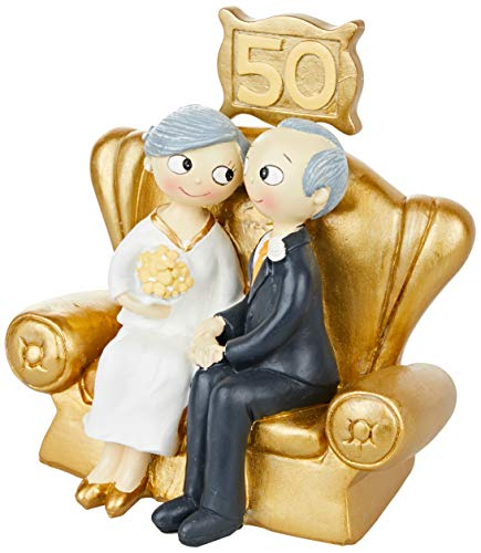 Mopec Figura Pastel Pop&Fun Bodas de Oro 16x16,5cm, acr