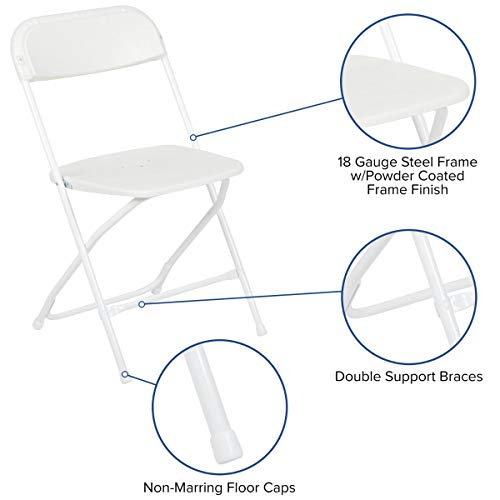 Flash Furniture HERCULES White Plastic Folding Chair
