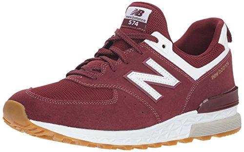 New Balance 574s, Sneaker Uomo, Rosso (Classic Burgundy/White Fcw), 45 EU