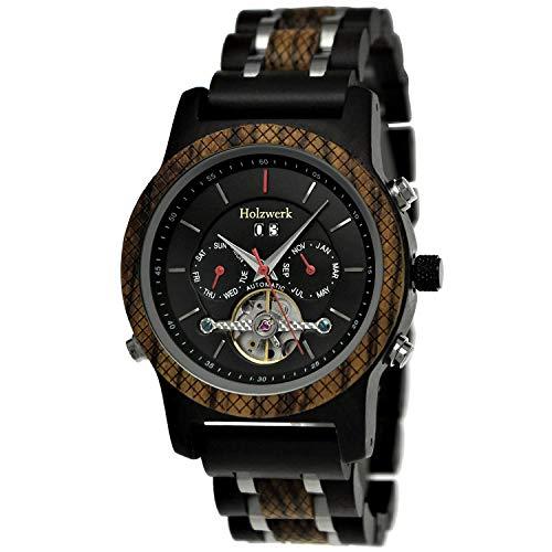 Holzwerk Germany - Reloj automático para hombre (madera), color marrón y blanco