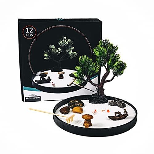 Japanese Zen Garden for Desk, Home Decor, Meditation Gifts. Zen Garden Kit Includes Sand Tray,...